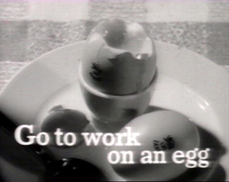 1950's TV advert go to work on an egg