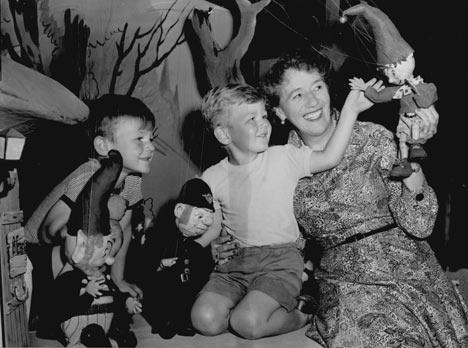 Enid Blyton y los niños.