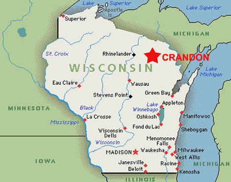 Wisconsin-kort