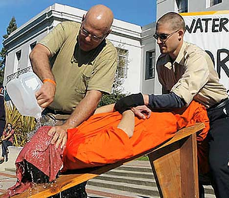 Volunteer is Waterboarded. Next, he can sue the government for torture AND the local utility for producing water. John Edwards has already expressed interest in taking the case, and channeling the waterboarding victims ghost, even though hes still alive and in perfect health.