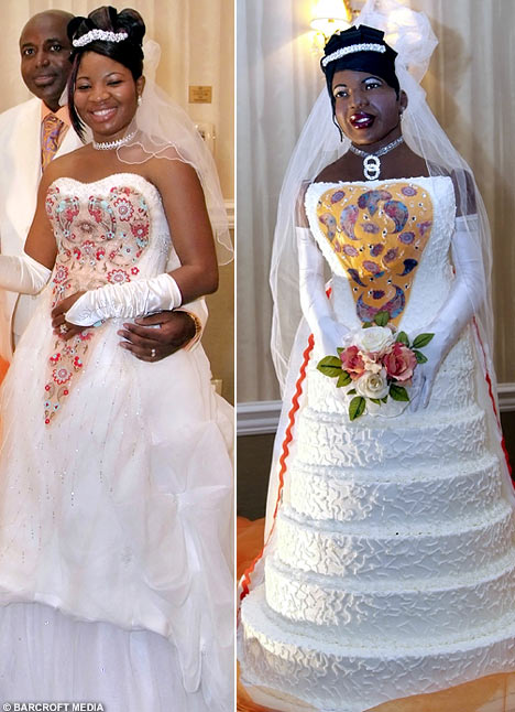 Seriously McmIllan she so ghetto wedding day no no cake bride