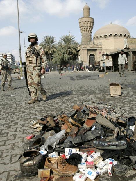 baghdad iraq bombing pet market