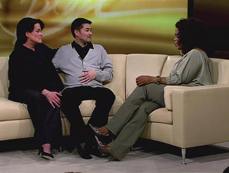 Thomas Beatie, his wife Nancy, and Oprah