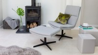 Modern Occasional Lounge Chair and Footsool