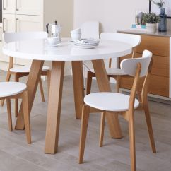 White Round Kitchen Table Sink Spray Nozzle Replacement Gloss And Oak 4 Seater Dining Set