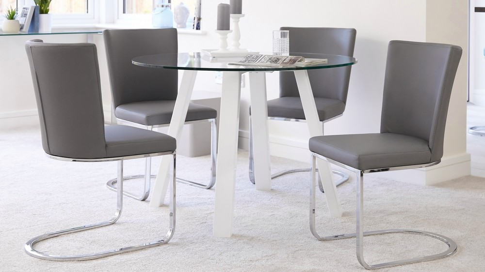 all modern leather dining chairs director chair covers for sale round 4 seater glass and white gloss table | uk