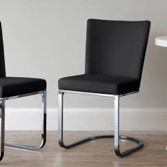 Chrome Dining Chairs Uk Counter Height Ikea Dark Wood And Black 6 8 Seater Set Comfortable