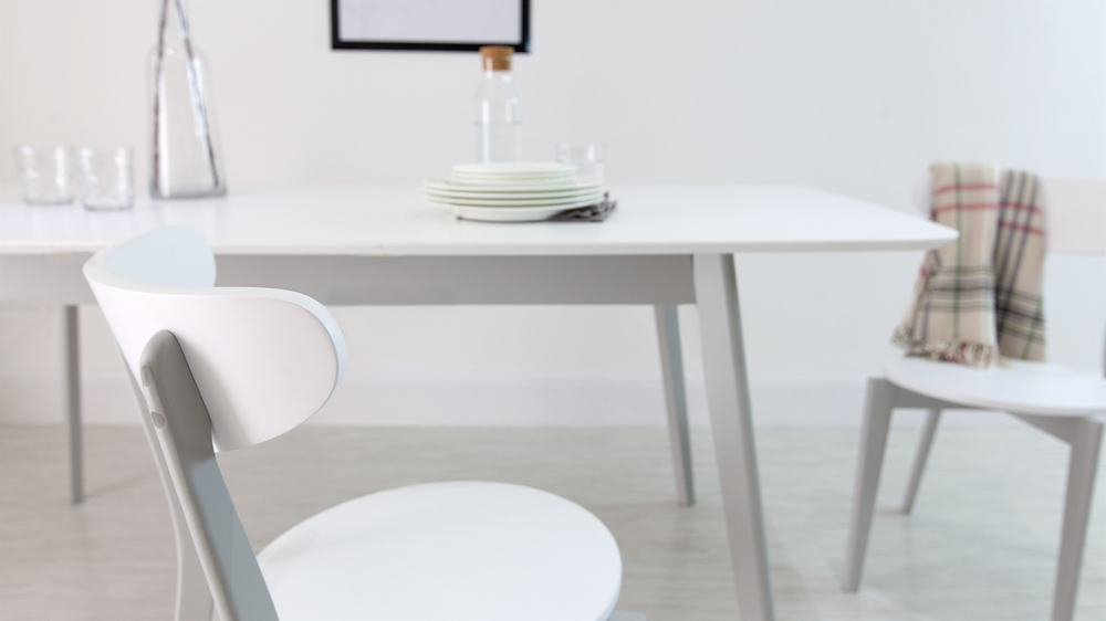 Aver Grey and White Extendable Kitchen Table  Danetti