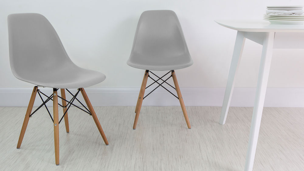 light grey chair black spindle dining eames high quality uk fast delivery wipeable chairs