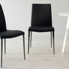 Chrome Dining Chairs Uk Alite Butterfly Chair Black Faux Leather Modern Delivery