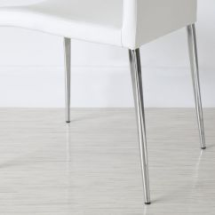 Dining Room Chair Leg Protectors Disposable Folding Covers Bulk Modern | Leather White And Grey Elise