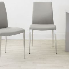 Light Grey Chair Gym In A Modern Dining Leather White And Elise Chairs