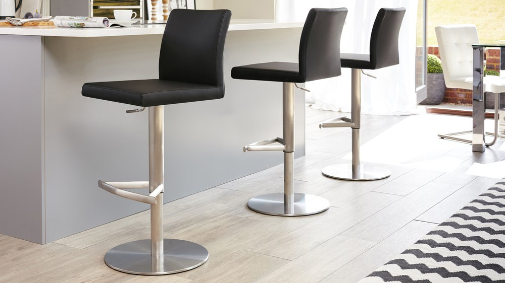 Elise Stainless Steel Contemporary Bar Stools