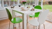White Gloss Kitchen Dining Set | Colourful Dining Chairs UK