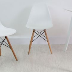 Eames Style Plastic Chair Zero Gravity Lawn Target White Gloss 4 Seater Table And Dining Chairs Uk