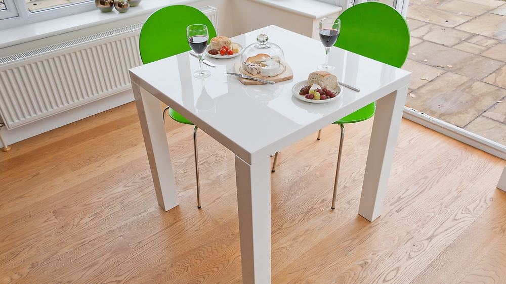2 seater kitchen table set white washed modern square high gloss | 4 uk