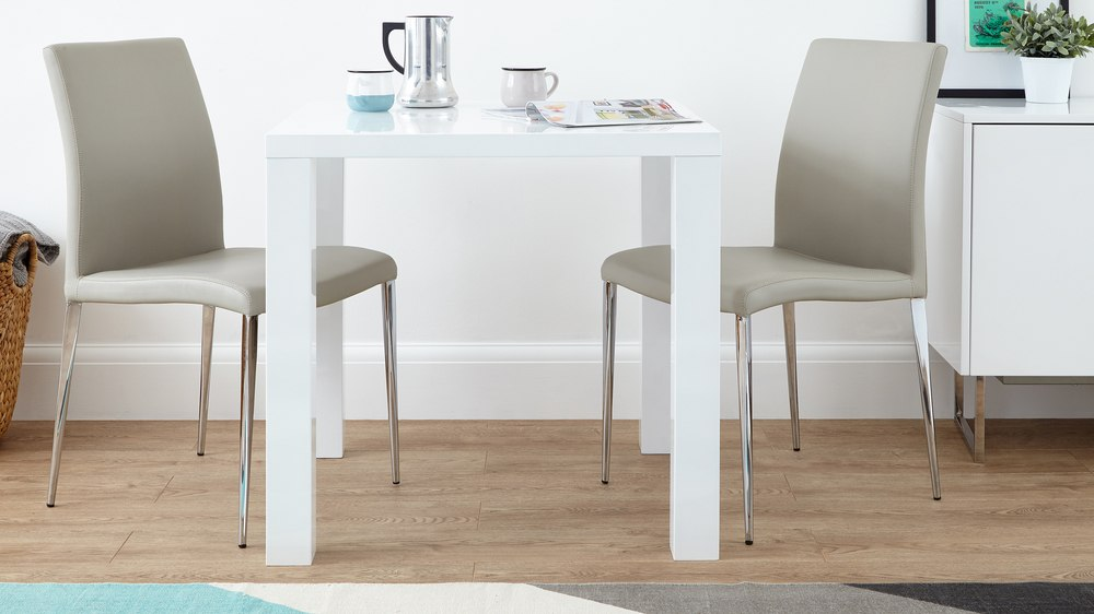 two seater chairs uk stacking chair dolly modern square white high gloss table | 4