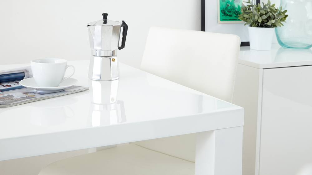 Modern Square White High Gloss Table