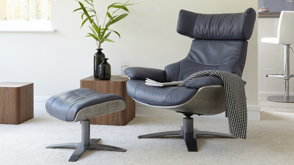 recliner chairs uk chair for stool leather reclining armchair and footstool living room modern delivery