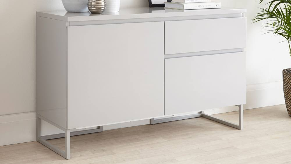 Small Modern Grey Sideboard With Drawers  UK Delivery