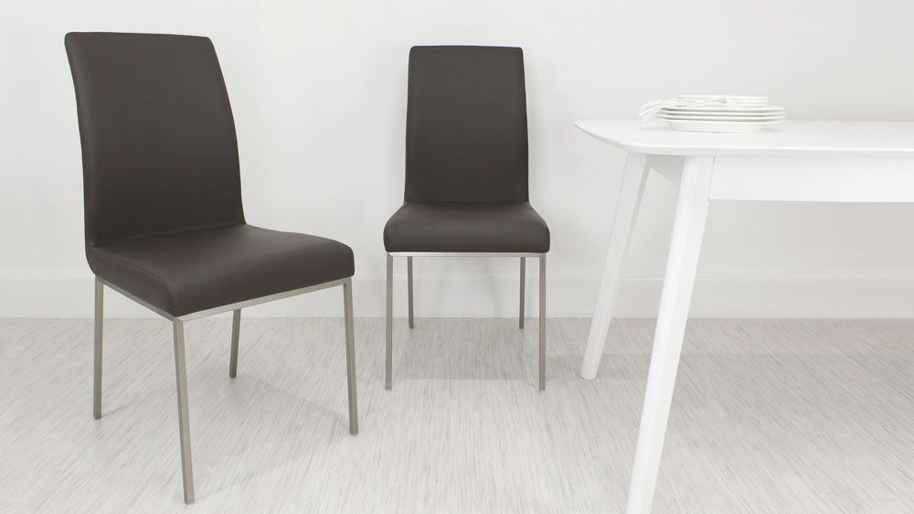 stylist chair for sale spandex covers wholesale canada modern dining | leather in white brushed metal legs