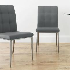 Chair Steel Legs Menards Patio Chairs For A Penny Faux Leather Dining Brushed Uk Grey Quilted