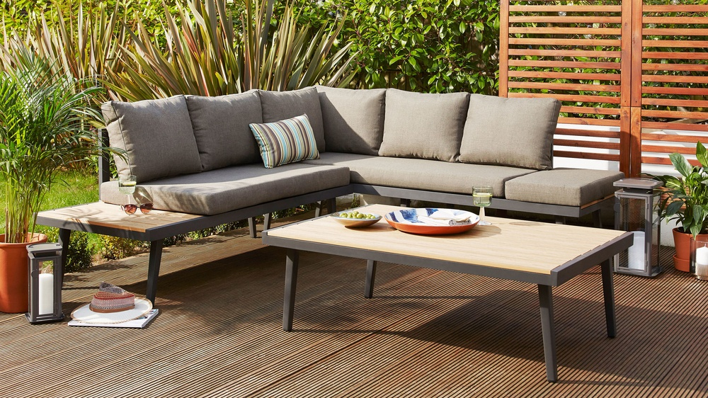 palermo rattan effect corner sofa set cover article 73 grey left hand outdoor dining bench large garden