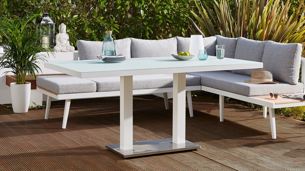 Palermo White 6 Seater Outdoor Table  Danetti UK
