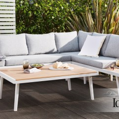 Garden Corner Sofa With Dining Table Slipcover For Leather Recliner Palermo White Left Hand Bench Modern