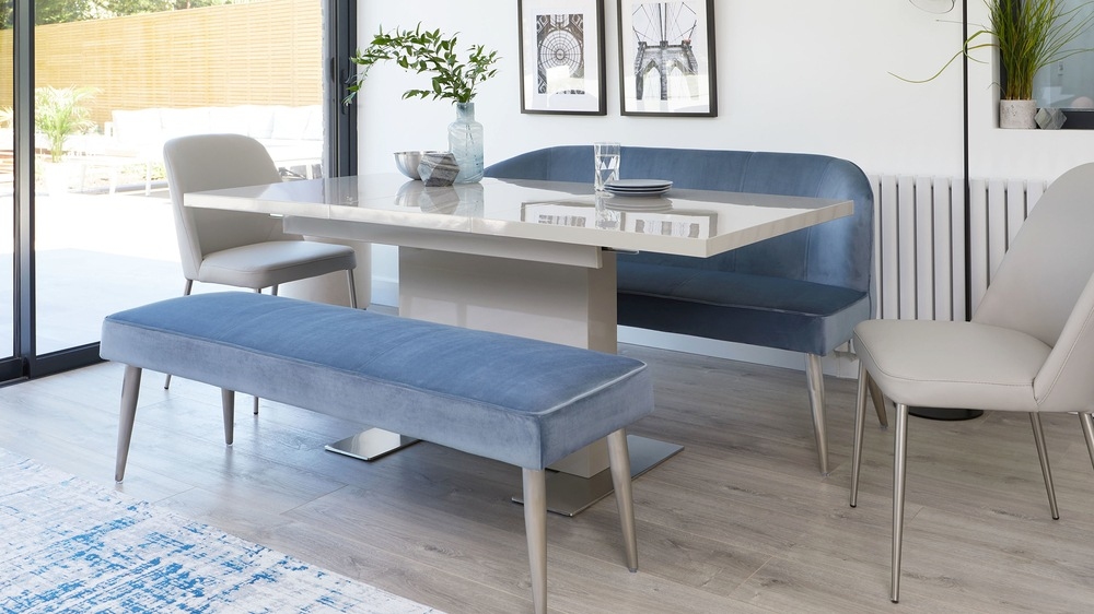 Sanza Grey Gloss Small Extendable Dining Table  Danetti
