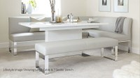 5 Seater Left Hand Corner Bench and Extending Dining Table