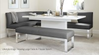 5 Seater Right Hand Corner Bench and Extending Dining Table
