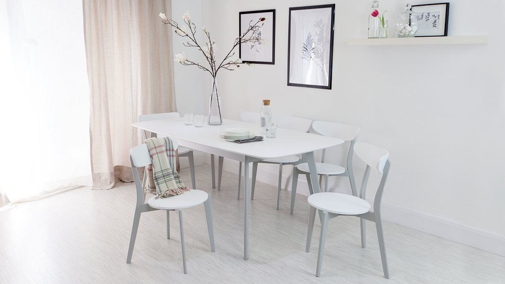 Grey And White Kitchen Chair  Dining Chair  Danetti UK