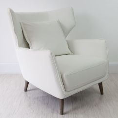Stylist Chair For Sale Gold Wedding Chairs Wing Back Leather Occasional Armchair | White Grey And Black