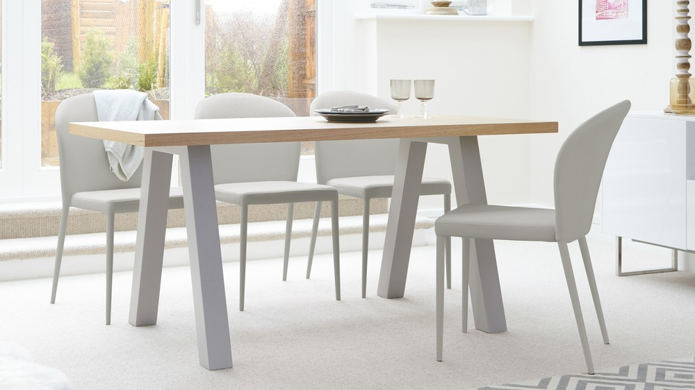 oak kitchen table reclaimed wood island zen 6 seater dining matt grey and exclusively danetti with julia kendell range