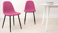 Fabric Dining Chair | 4 Black Legs | UK Delivery