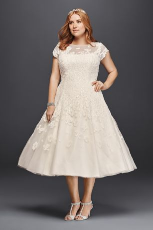 short ballgown vintage wedding dress oleg cassini