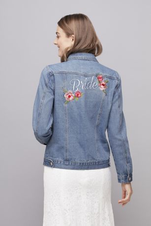 Embroidered Bride Denim Jacket David S Bridal