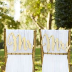 Mr And Mrs Chair Signs Conference Chairs For Sale Gold Promises Classic David S Bridal Yellow