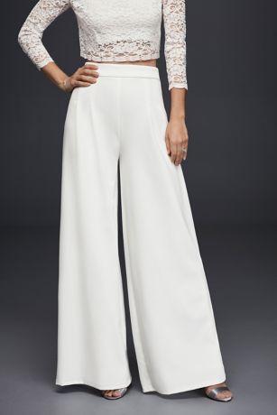 Crepe WideLeg Trousers  Davids Bridal