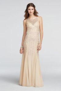 Illusion Beaded Strappy Back Prom Dress - Davids Bridal
