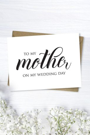 mother wedding day script