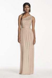 Long One Shoulder Lace Bridesmaid Dress Style F17063 | eBay