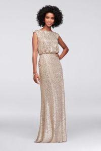 Long Sequin Blouson Dress Style F19022 | eBay