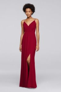 Long Bridesmaid Dress with Beaded Straps | David's Bridal