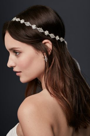 Scattered Rhinestone Headband Davids Bridal