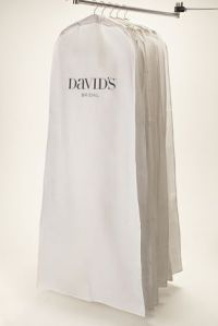 White Side Zip Garment Bag - Davids Bridal