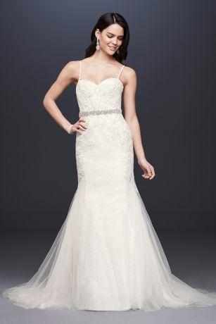 Galina Signature Spaghetti Strap Trumpet Wedding Dress