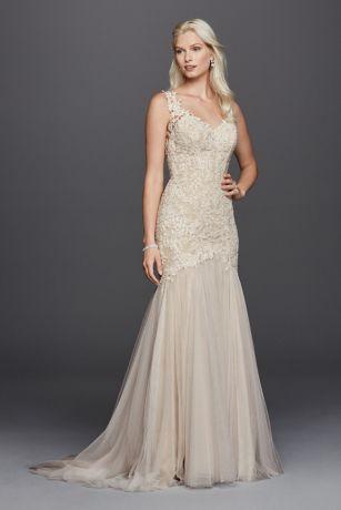 Beaded Venice Lace Trumpet Wedding Dress Style SWG723  eBay