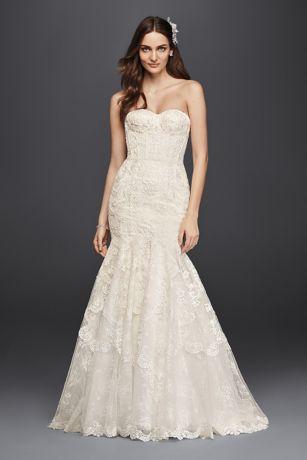 Corset Bodice Mermaid Lace Wedding Dress  Davids Bridal